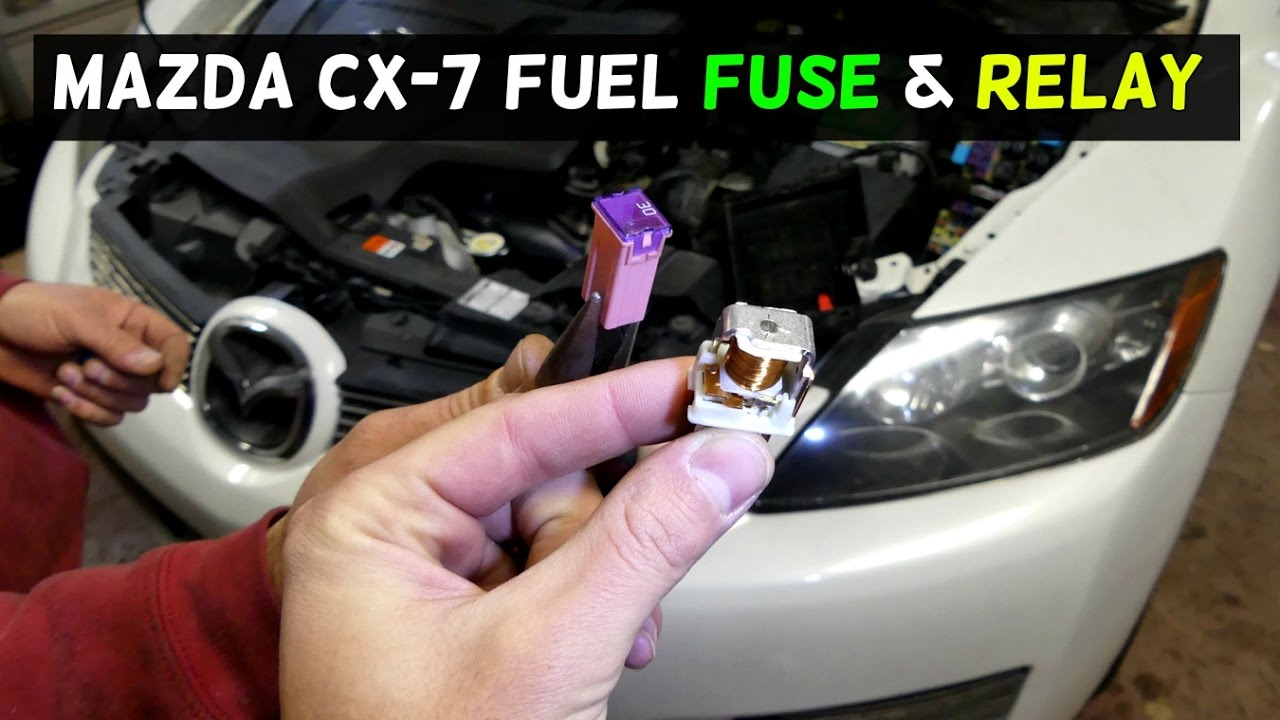 medium resolution of mazda cx 7 cx7 fuel pump fuse and relay location replacement