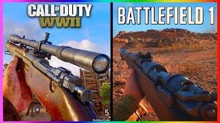 Call of Duty WWII Graphics vs Battlefield 1 Graphics (BF1 vs COD WW2 Graphic Comparison)