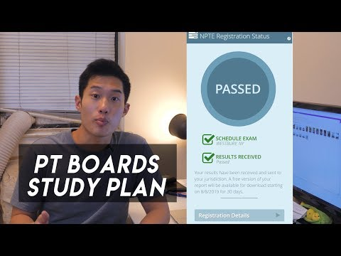 How I Studied for the PT Board Exam - NPTE Study Plan - YouTube