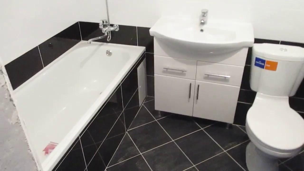 ванная комната из черно белой плиткигбрянск Youtube