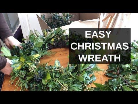 EASY Christmas Wreath | How To Make A Christmas Wreath