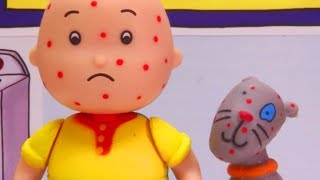 Caillou and Gilbert have CHICKEN POX | Funny Animated cartoons Kids | Caillou Stop Motion