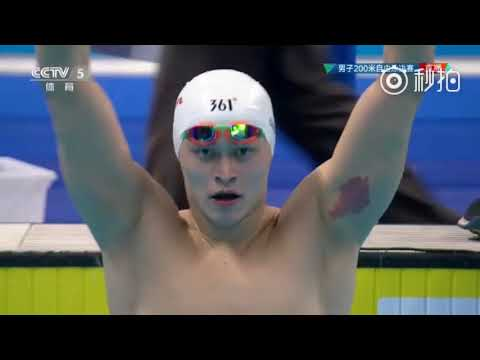 【SUN YANG】2018 Asian Game Men's 200m Freestyle Final + interview - ENG SUB