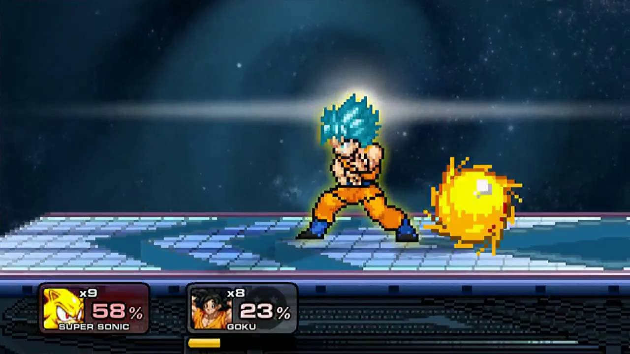 super smash flash 2 super sonic vs goku ssj blue