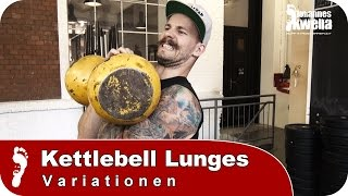 Kettlebell Lunges (Ausfallschritte) | Top Variationen