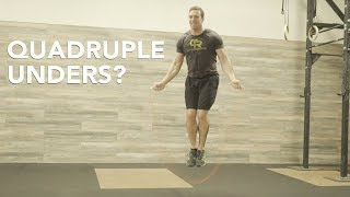QUADRUPLE-Unders w/Dave Hunt | Tabata Songs | Crossrope