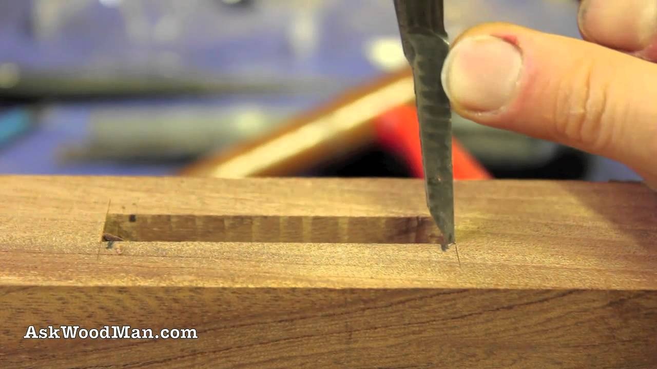 How to work a chisel on wood 43