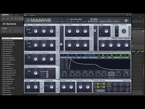 Massive Tutorial - How to create 808 Sub Bass from Scratch - Maschinemasters