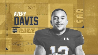 Avery Davis Highlights - Notre Dame Football - NSD17