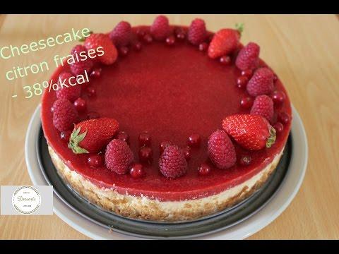 recette-de-cheesecake-citron-avec-miroir-fraises--38%-kcal