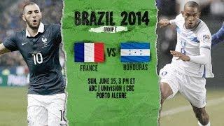 France vs Honduras 0-1 Goal karim benzema and Highlight ~ World Cup 2014 HD