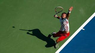 Ivan Dodig Amazing Tweener Lob Winner vs Lopez | 2014 US Open