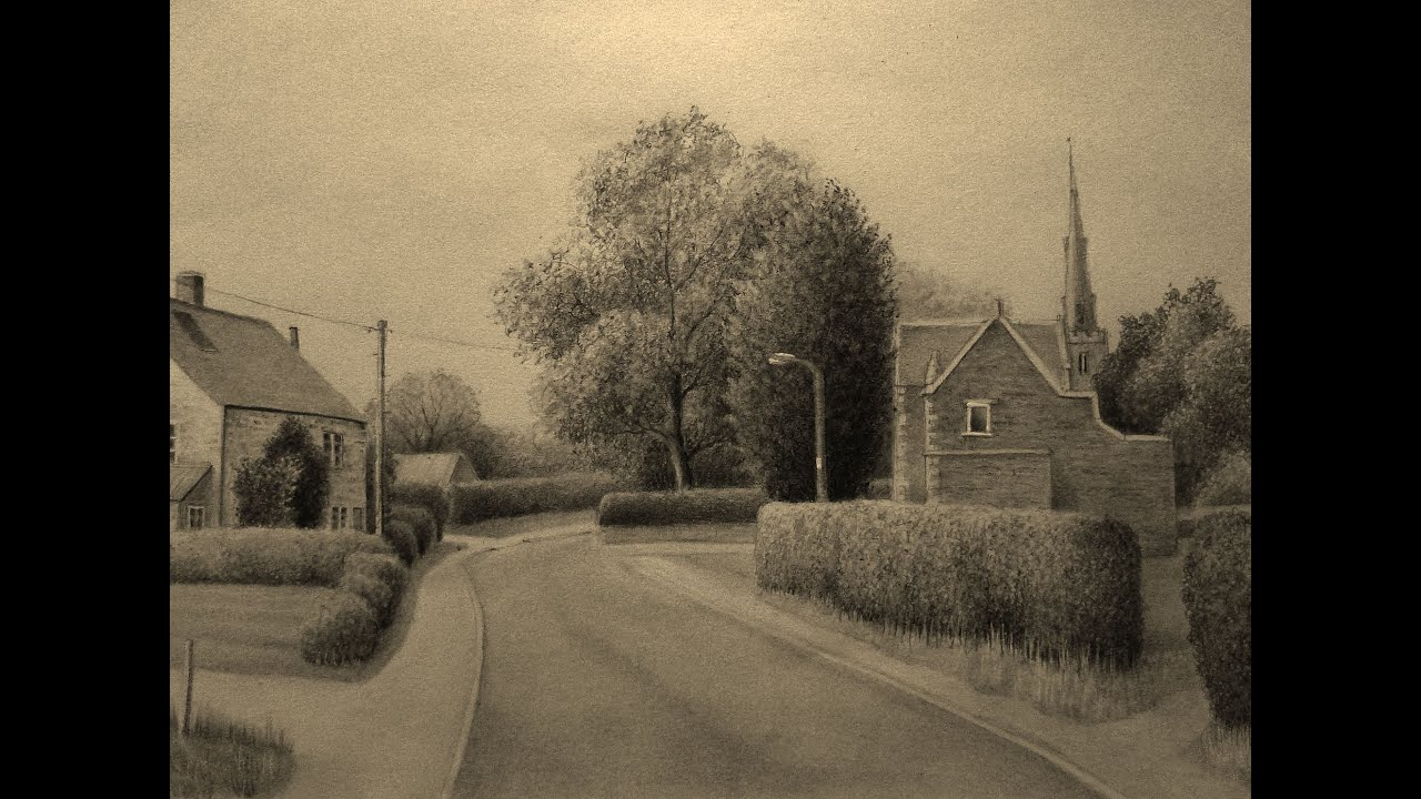 charcoal landscape by Nifty-senpai on DeviantArt  |Charcoal Drawings Of Landscapes