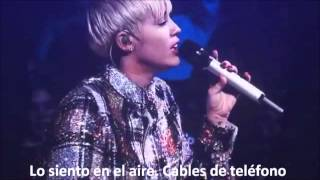 Repeat youtube video Summertime Sadness-Miley Cyrus subtitulada al español. BANGERZ TOUR
