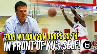 Zion Williamson Bullies His Way to 39 & 14 in...