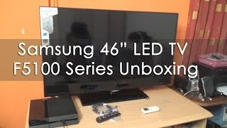 Samsung 46 inch LED TV F5100 1080p 100Hz Unboxing