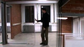 Раздвижная стеклянная перегородка для комнаты или офиса(Раздвижная стеклянная перегородка из 4 частей для комнаты, офиса, террасы или веранды. Фурнитура для стекла..., 2015-12-23T19:12:36.000Z)