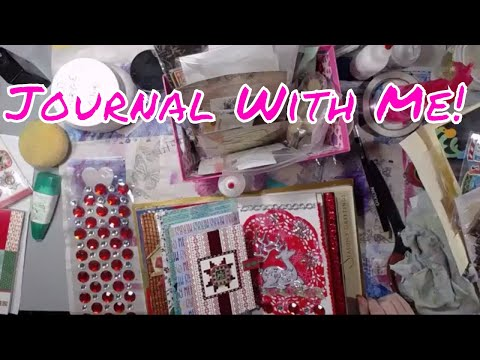 Live Stream - Just Playing Around in My Christmas Junk Journal