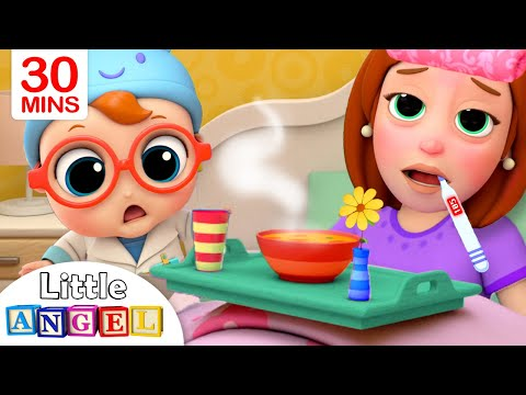 Mommy Got Sick | Sick Song | Little Angel Kids Songs & Nursery Rhymes