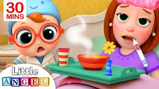 Mommy Got Sick  Sick Song  Little Angel Kids Songs Andamp Nursery Rhymes