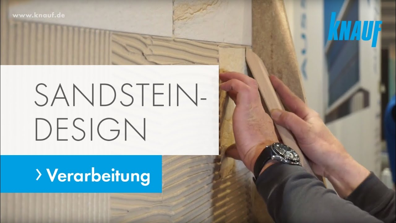 verarbeitung von knauf sandstein design youtube. Black Bedroom Furniture Sets. Home Design Ideas