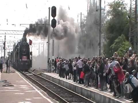 Прибытие поезда Победы на вокзал ст.Прохладная