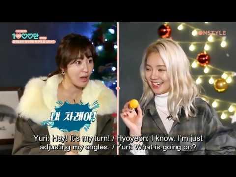 [Eng Sub] Hyoyeon & Yuri of SNSD play beer pong