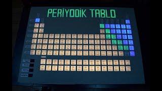 periyodik tablo yapımı (led ışıklı) ( periodic table design )