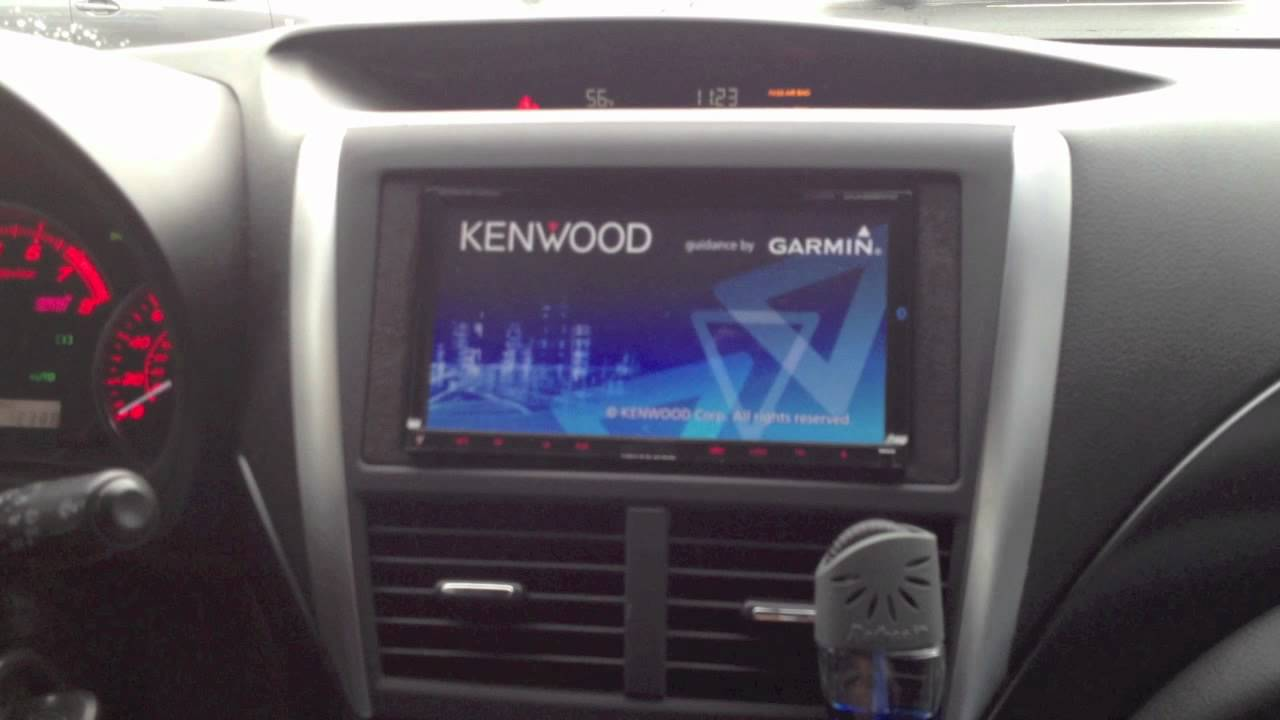 2011 Subaru STI custom installed a Kenwood DNX9980HD and a CMOS backup Camera - YouTube