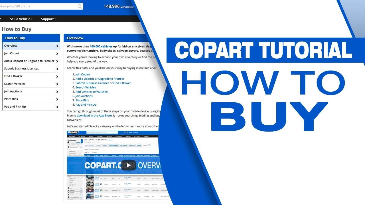 Copart Tutorial How To Buy