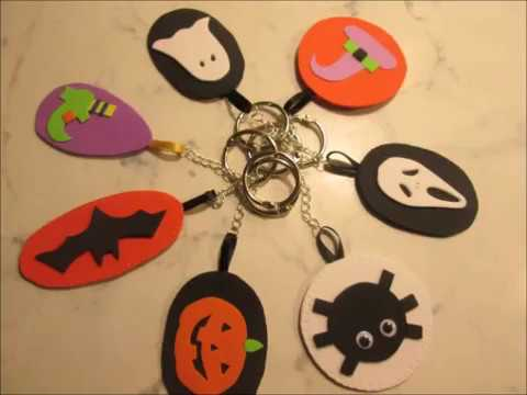 DIY  Portachiavi fai da te per Halloween Tutorial portachiavi  handmade Portachiavi fatti a mano 711ea26ad406