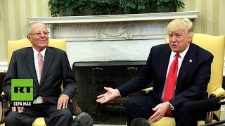 """Las """"coincidencias"""" políticas de PPK con Trump ponen a Perú en el radar de EE.UU."""