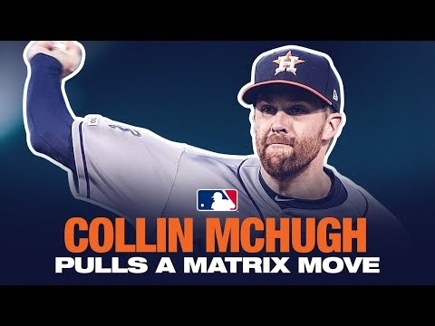 Drew & K.B. - Astros Pitcher Pulls Off Matrix Like Move