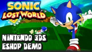 Sonic Lost World Nintendo 3DS - (1080p) Nintendo 3DS Eshop Demo