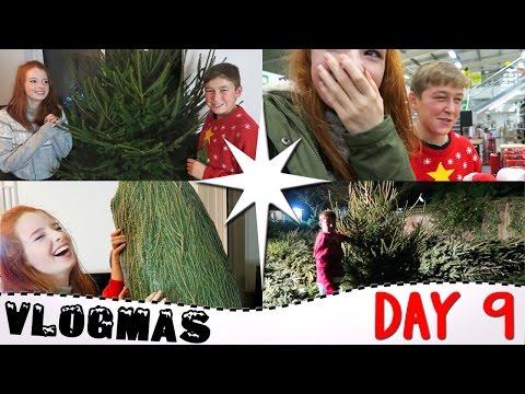 Vlogmas Day 9 2016, Choosing A HUGE Christmas Tree, Buying Christmas Decorations, Vlogmas | NiliPOD
