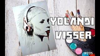 Drawing Yolandi Visser (Die Antwoord). Рисуем Йоланди Фиссер