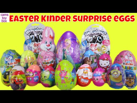 Chocolate Easter Surprise Eggs KINDER Bunny Maxi Shopkins Trolls Paw Patrol Hello Kitty Dora Explore