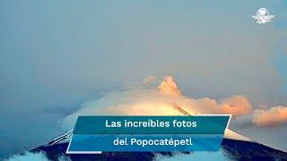 De acuerdo con la unidad de Protección Civil de Puebla, el Popocatépetl presenta exhalación de gases y vapor de agua que se dispersa hacia el noroeste