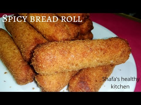 Bread Roll Recipe | Spicy Bread Roll Recipe | Quick & Easy Evening Snack Recipe / Eid Menu