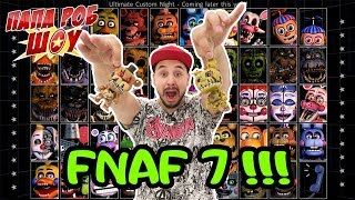 Папа Роб играет в FNAF 7 Ultimate Custom Night