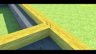 видео Как правильно крепить брус к фундаменту?