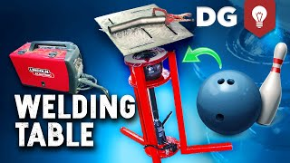 how-to-build-a-welding-table-diy-with-a-bowling-ball-for-cheap