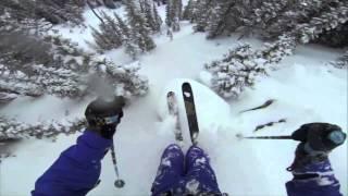 Экстремальный фрирайд(Горнолыжник Эндрю Вайтфорд смонтировал отличное видео некоторых своих горных заездов. Говорит, что обвеша..., 2013-05-27T15:00:47.000Z)