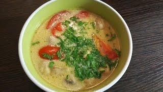 Суп с курицей в тайском стиле