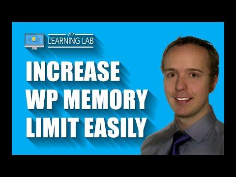WordPress memory limit increase