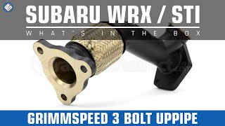 GrimmSpeed 3-Bolt Up External Wastegate Uppipe - What