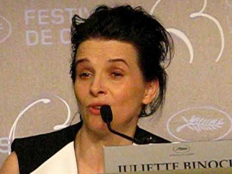 Juliette Binoche fala em Cannes 2010