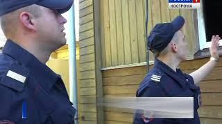 Костромские полицейские спасли из огня девушку, её собаку - и задержали подозреваемого в поджоге
