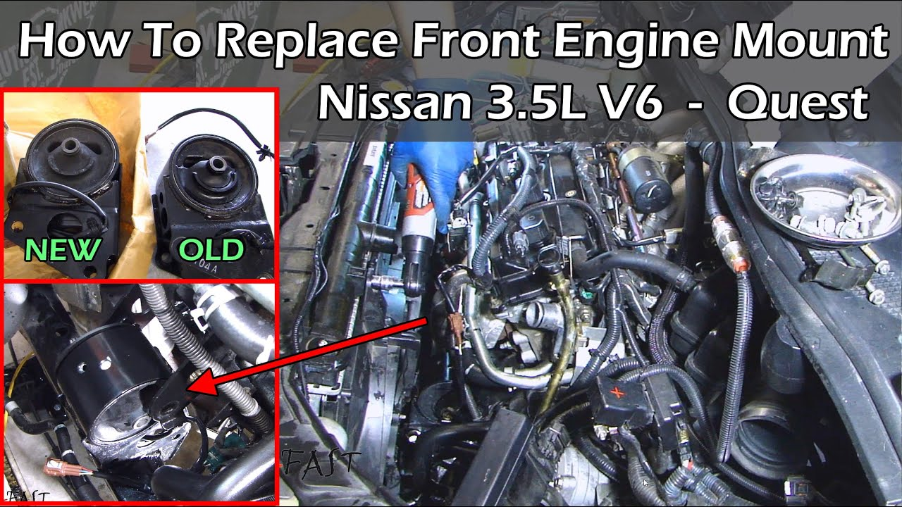 small resolution of nissan 3 5 v6 front engine mount replacement complete guide