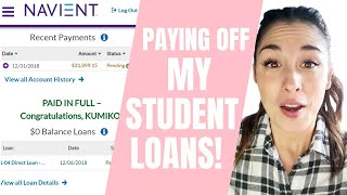 I'm FINALLY Paying Off My Student Loans!!